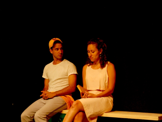L-R: Alejandro Rodriguez and Talia Marrero in GHETTO BABYLON at 59E59 Theaters. Photo by Lisa Silberman