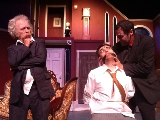 (L-R) Dennis O'Connor, Michael Blake Oldham & Katt Gilcrease PHOTO: Courtesy of Stage Right Players