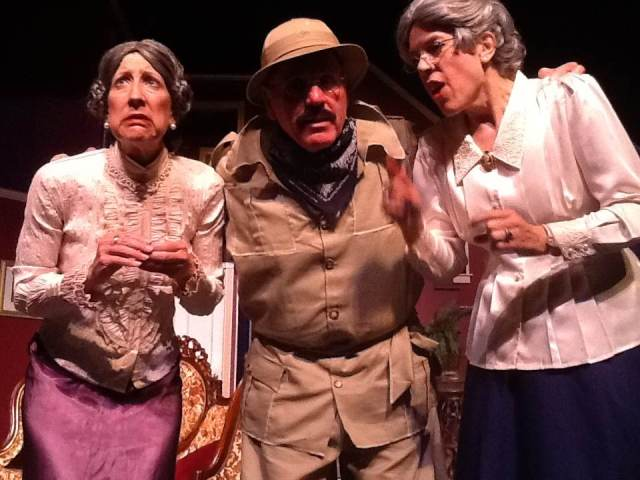 (L-R) Carolyn Corsano Wong, David Vela & Leona Hoegsberg PHOTO: Courtesy of Stage Right Players