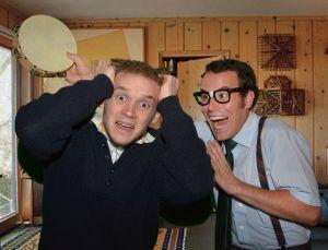 Mike Sims (left) with James Monaghan PHOTO: Larry Lipton & Douglas Kreitz