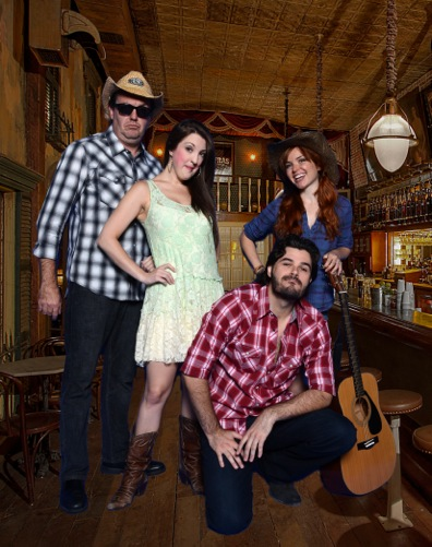 SALOON SONGS Cast (L-R) Luke Wrobel, Kristina Sullivan, Brad Scarborough & Cay Taylor PHOTO: Courtesy of Music Box Theater