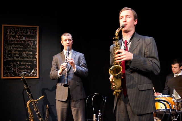 L - R: Peter Anderson and Will Anderson in LE JAZZ HOT: HOW THE FRENCH SAVED JAZZ at 59E59 Theaters. Photo by Eileen O'Donnell