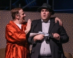 (L-R) Jonathan Rozas as Lord Oakleigh & Michael Raabe as Moonface Martin PHOTO: Dave Clements  DWC Photography