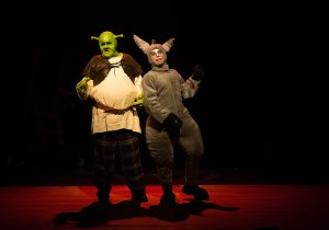 Jack Wheeler as SHREK & Aidan Stock as DONKEY PHOTO: Len Bates