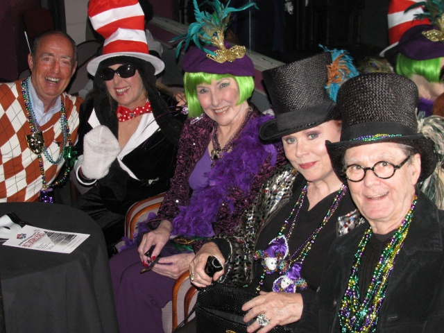 Some in the LSL audience came dressed in their Mardi Gras best! PHOTO: Charles Luke