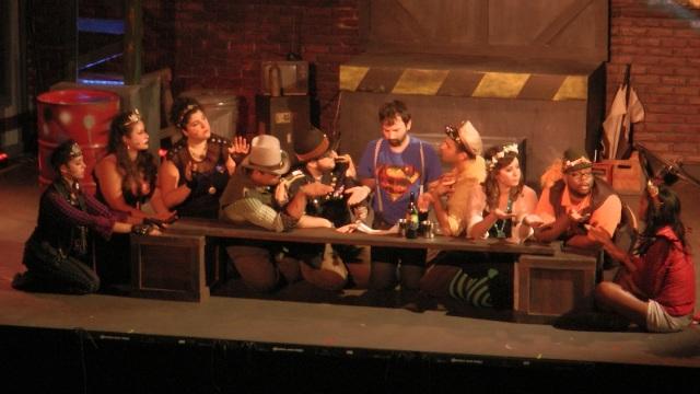 Cast of Rockaway Theatre Co. GODSPELL Photo: Norm Scott