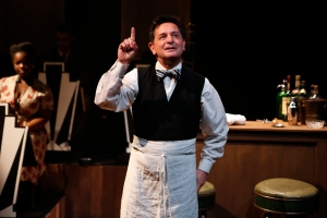 Evan Pappas in CAFE SOCIETY SWING at 59E59 Theaters. Photo by Carol Rosegg