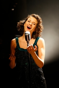 Cyrille Aimée in CAFE SOCIETY SWING at 59E59 Theaters. Photo by Carol Rosegg