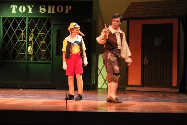 Andersen McDaniel as PINOCCHIO and Jordan Rubio as GEPPETTO Photo: K. Navarra