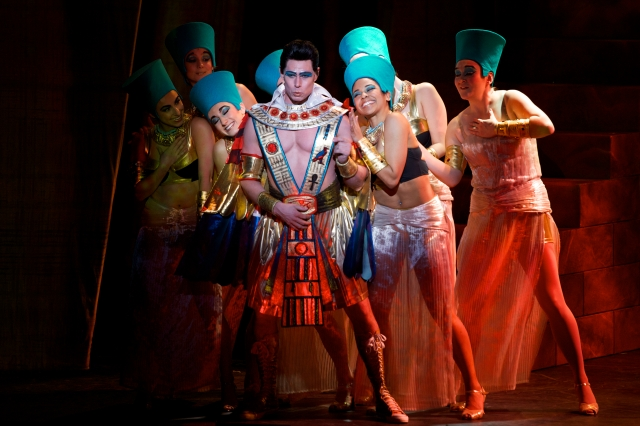 PHOTO: DANIEL A. SWALEC Ryan Williams as Pharaoh, and Company