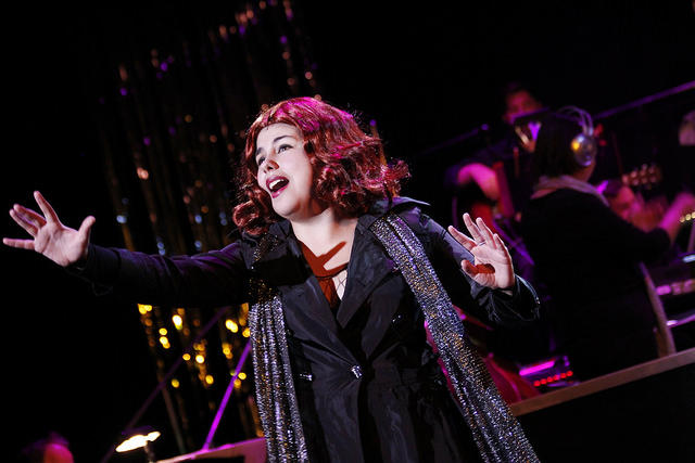 Lauren Salazar as Mary Sunshine in CHICAGO Photo: Lone Star College-Montgomery