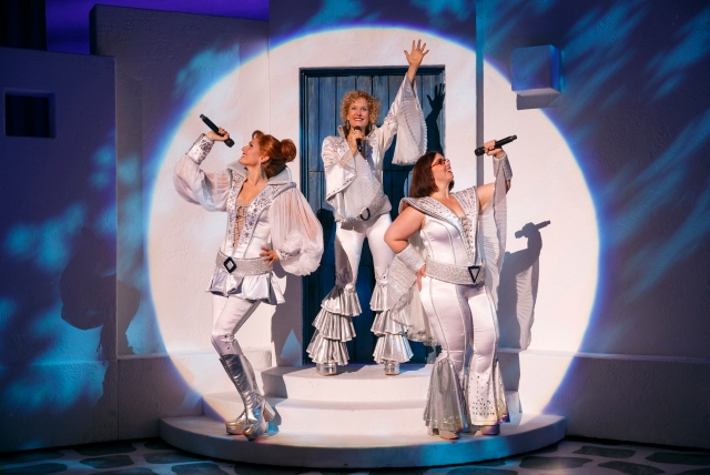 Cast of MAMMA MIA! Photo: Joan Marcus