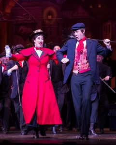 Audrey McKee (Best Leading Actress) as Mary Poppins in Friendswood High School's Mary Poppins performance with cast.