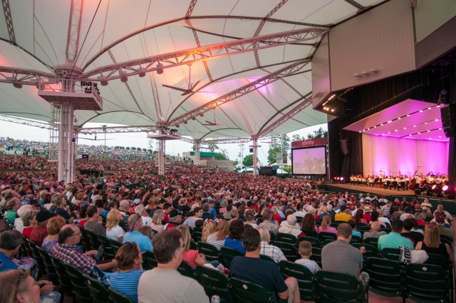 Houston Symphony Orchestra at the Cynthia Woods Mitchell Pavilion PHOTO: Ted Washington