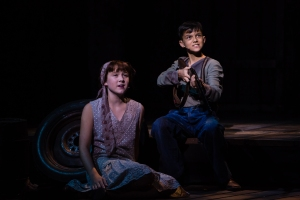 Ella DuCharme as Young Bonnie & Scott Fonseka as Young Clyde PHOTO- Christian Brown