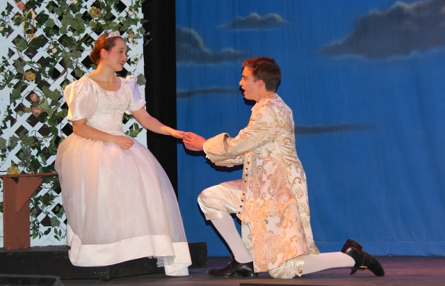 Natalie Holley as CINDERELLA and Jack Whitney as the Prince COURTESY PHOTO