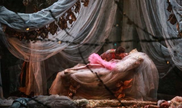 "Sara Webb as Princess Aurora & Jared Matthews as Prince Florimund in Houston Ballet's ""The SLEEPING BEAUTY"" Photo: Amitava Sarkar"