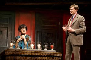 Andrea Goss as  Sally Bowles  and Lee Aaron Rosen as Clifford Bradshaw
