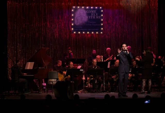 Victor Vasquez performing with the Lone Star College-Montgomery JAZZ ENSEMBLE at Crighton Theatre PHOTO: Brad Meyer