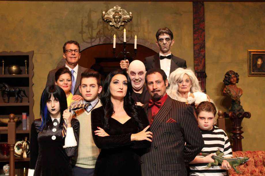 cast of crighton theatres production of the addams family