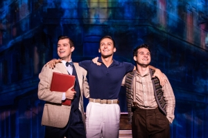 Neil Spangler, Garen Scribner and Etai Benson with the An American in Paris touring company. PHOTO by Matthew Murphy